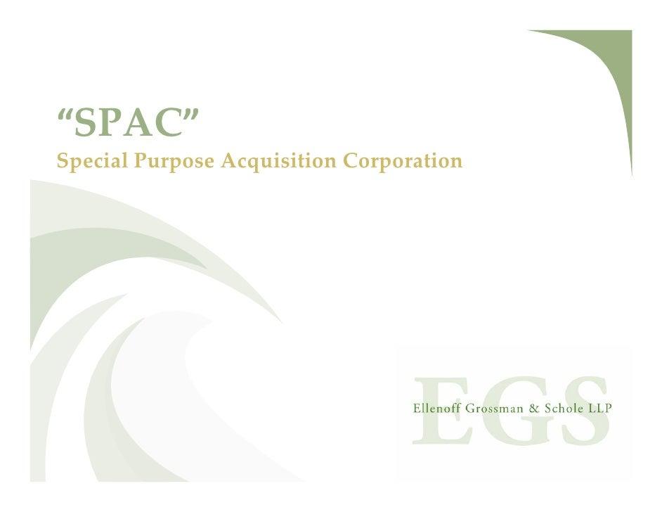 """""""SPAC""""SpecialPurposeAcquisitionCorporation"""