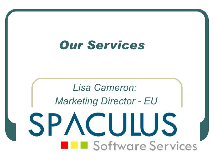 Spaculus   our services
