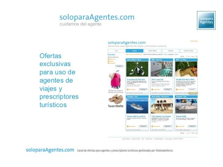 Ofertas exclusivas para uso de agentes de viajes y prescriptores tur ísticos