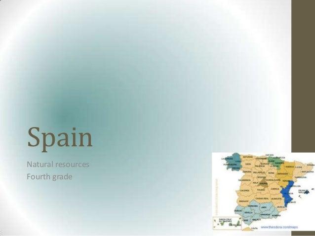 SpainNatural resourcesFourth grade