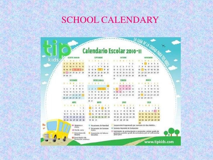SCHOOL CALENDARY<br />