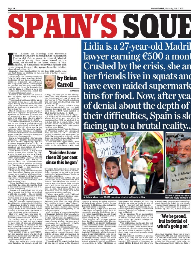 Irish Daily Mail - Spain´s Squeezed Middle