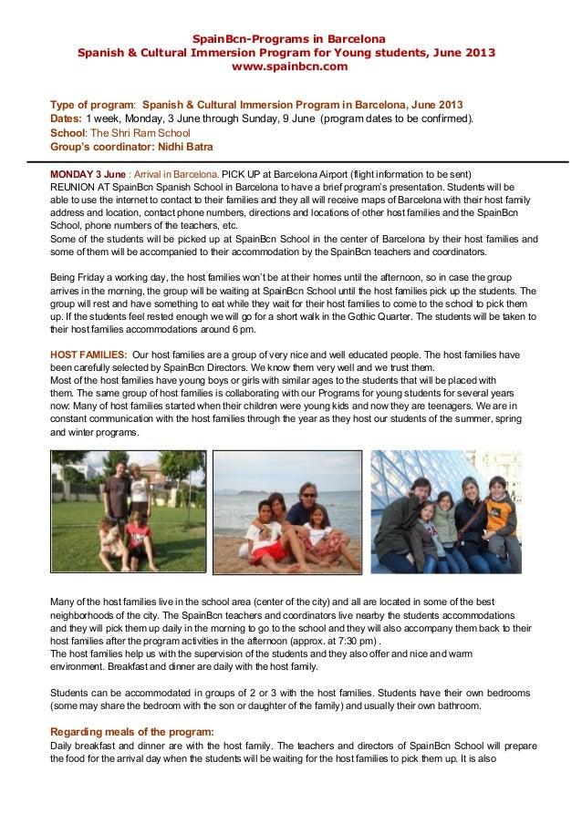 Student Group Tour Program