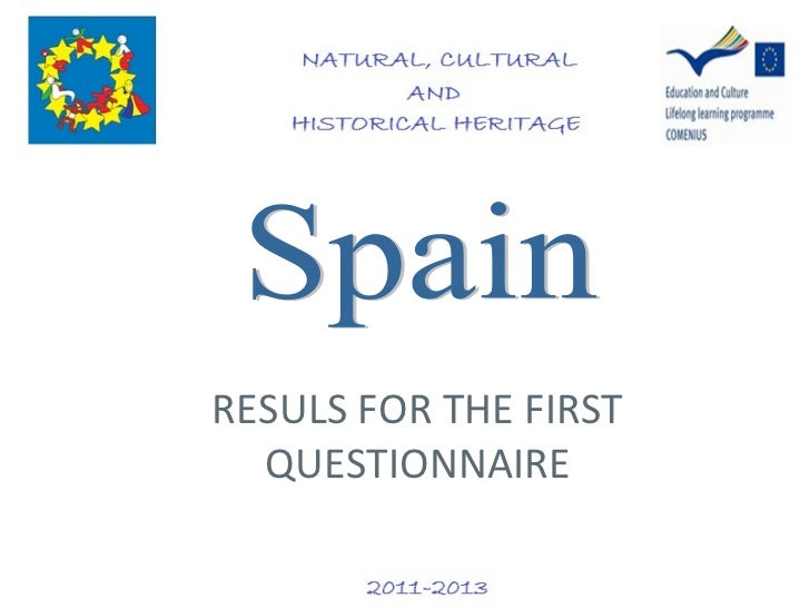 Spain results of the 1st questionnaire