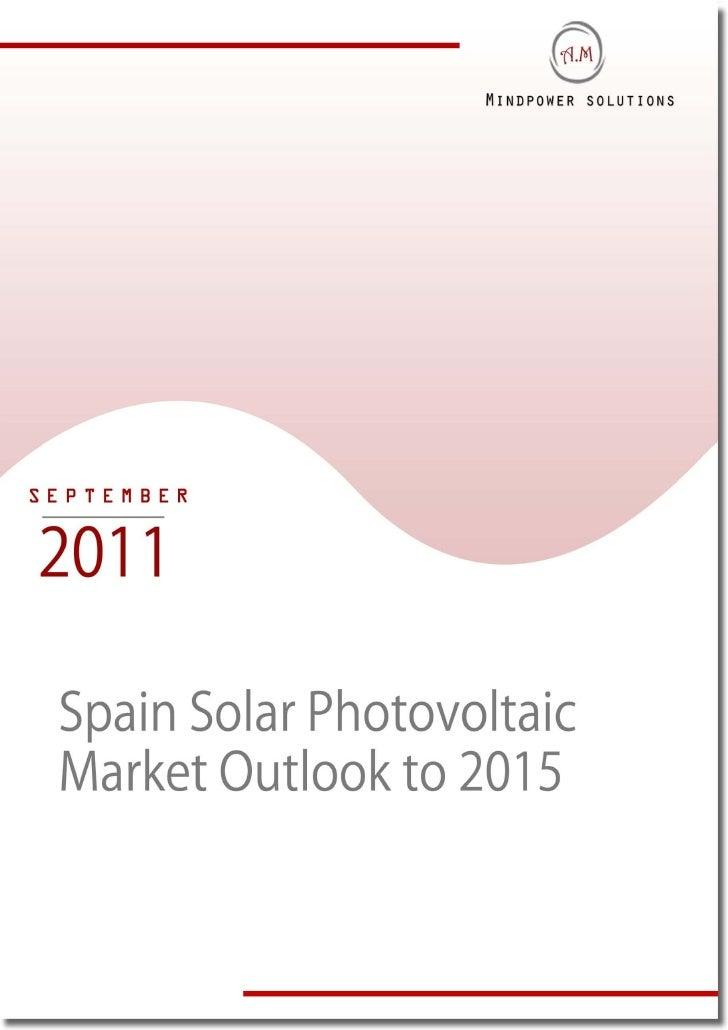 Spain Solar Photovoltaic Market Outlook to 2015