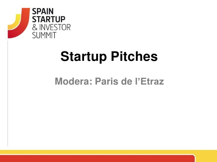 Spain Startup Pitches 1