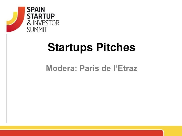 Spain Startup Pitches 4
