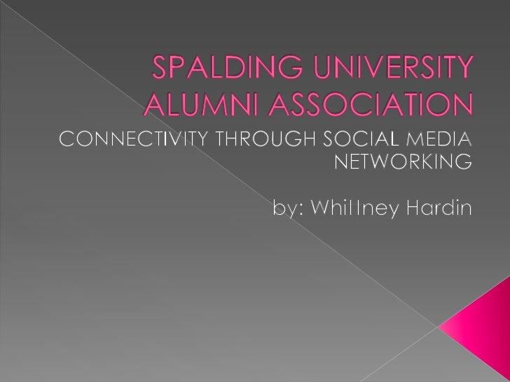 Spalding  alumni social media