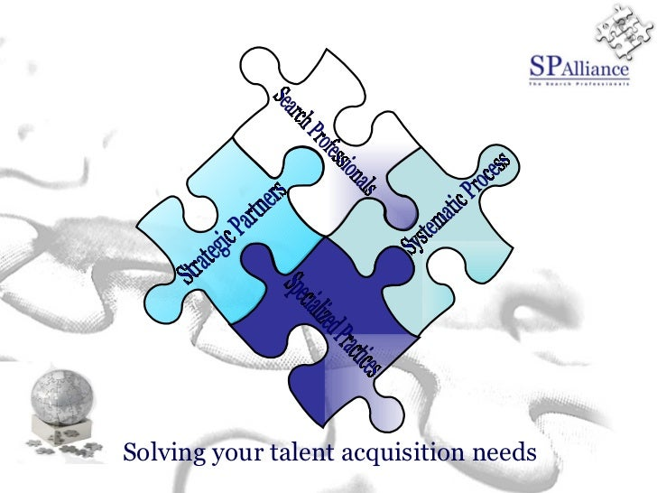 Solving your  talent acquisition needs Search Professionals Strategic Partners Specialized Practices Systematic Process