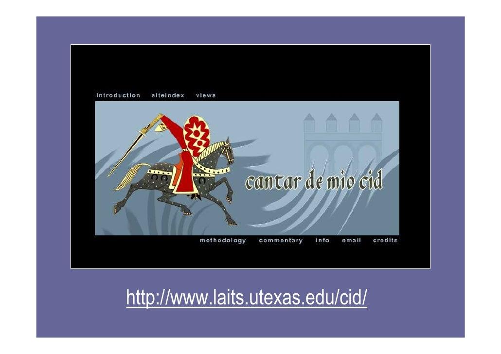 Span 4573 El Uso De Cantar De Mio Cid De Ut