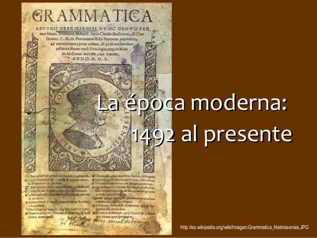Span 4573 la historia del español epoca moderna 2014