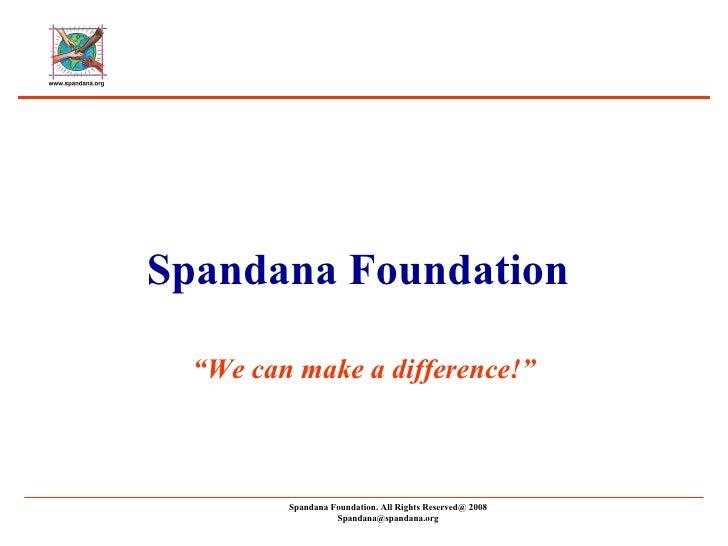 Spandana Foundation Presentation