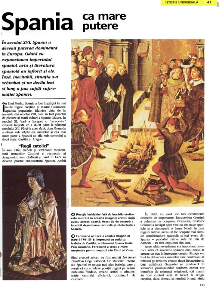 .                                          IIn secolul XVl, Spania adevenit puterea dominantain Europa. Odata cuexpansiune...