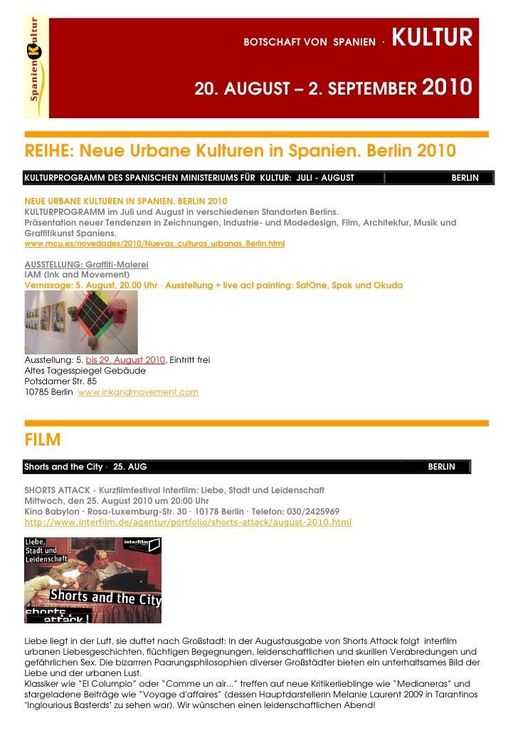 Programa cultural español en Alemania
