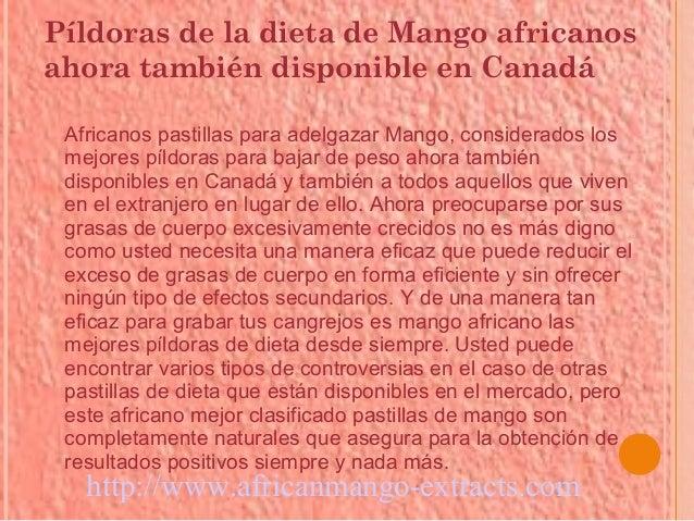 Píldoras de la dieta de Mango africanosahora también disponible en Canadá Africanos pastillas para adelgazar Mango, consid...