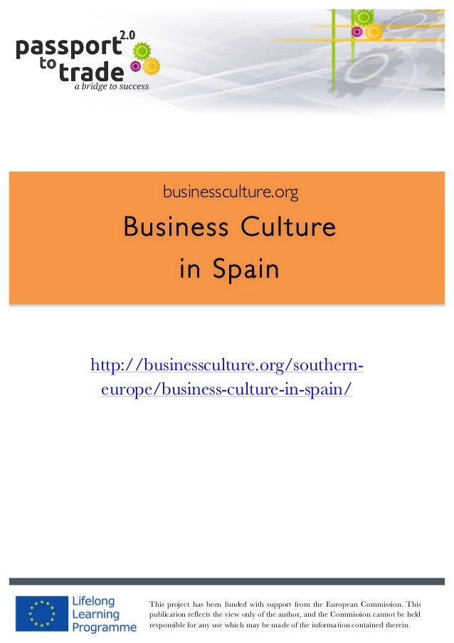 Spanish business culture guide - Learn about Spain