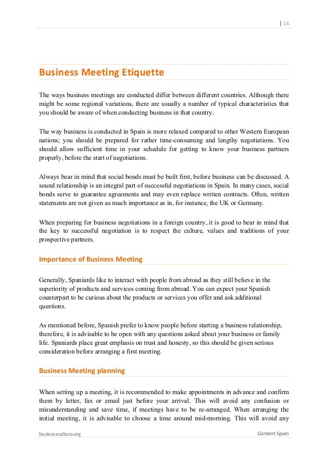Spanish Business Culture Guide
