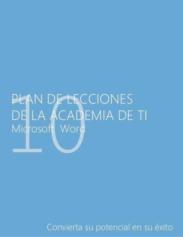 Spanish   microsoft word 2010 lesson plan