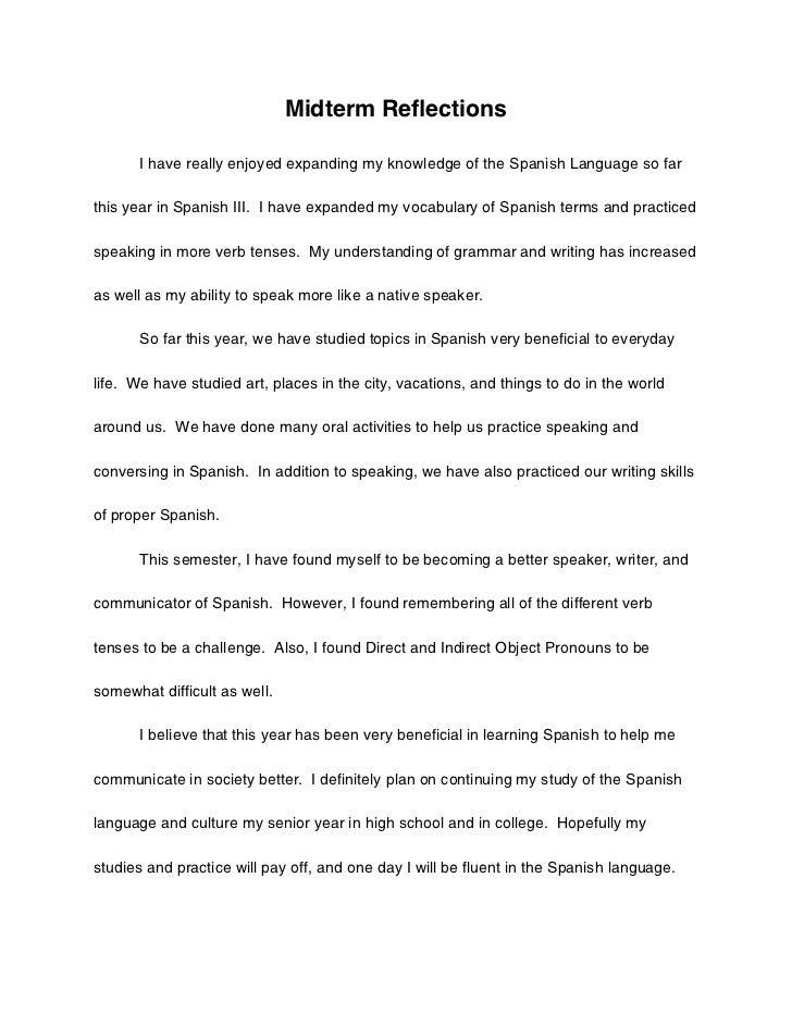 Evaluation essay definition in spanish