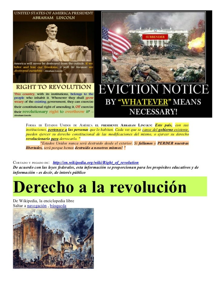Spanish   Right of REVOLUTION & Political CORRUPTION