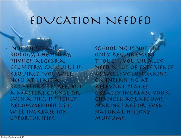 Marine Biology types of college majors