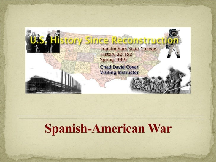 US History Since Reconstruction ~ Week Five, Lecture One