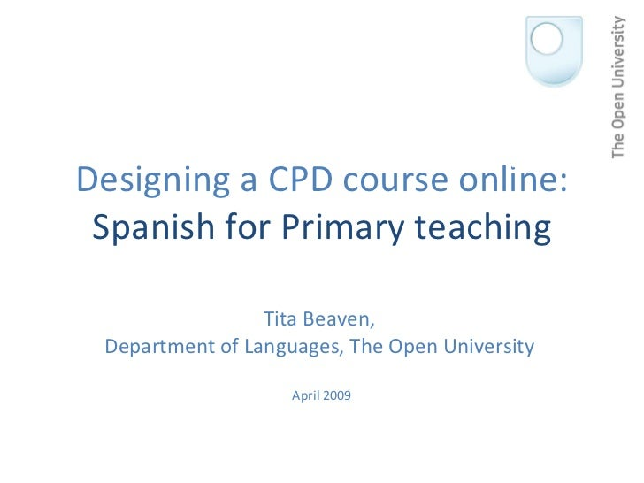 Designing a Spanish cpd course