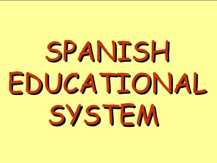 Spanish Educational System