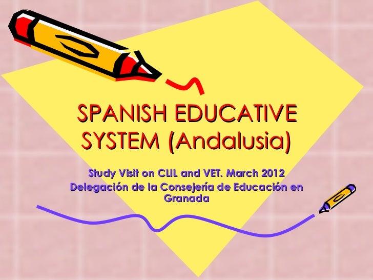 Spanish educative system