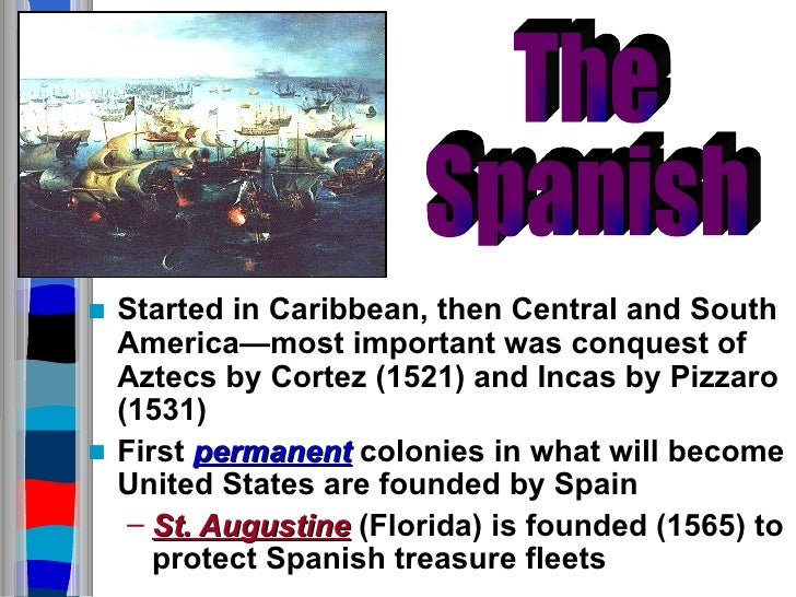 spanish  french  and english colonies