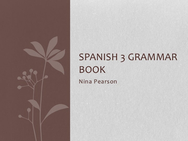 Spanish grammer book