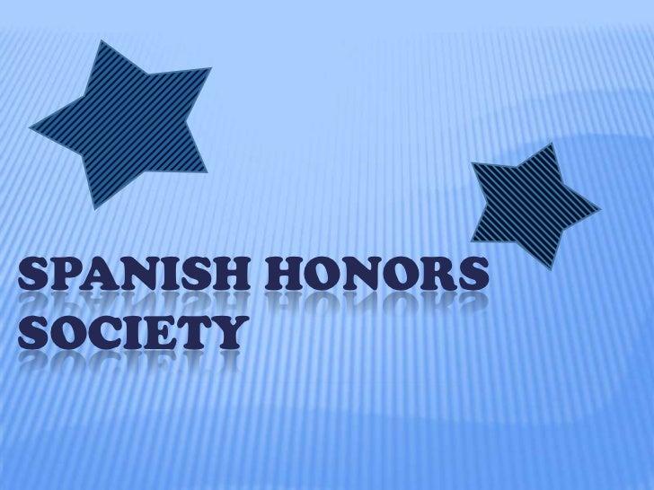 SPANISH HONORSSOCIETY