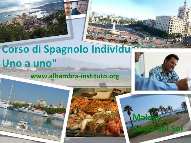 """Corso di  Spagnolo   Individuale   """" Uno a uno""""  Malaga  Costa del Sol www.alhambra-instituto.org"""