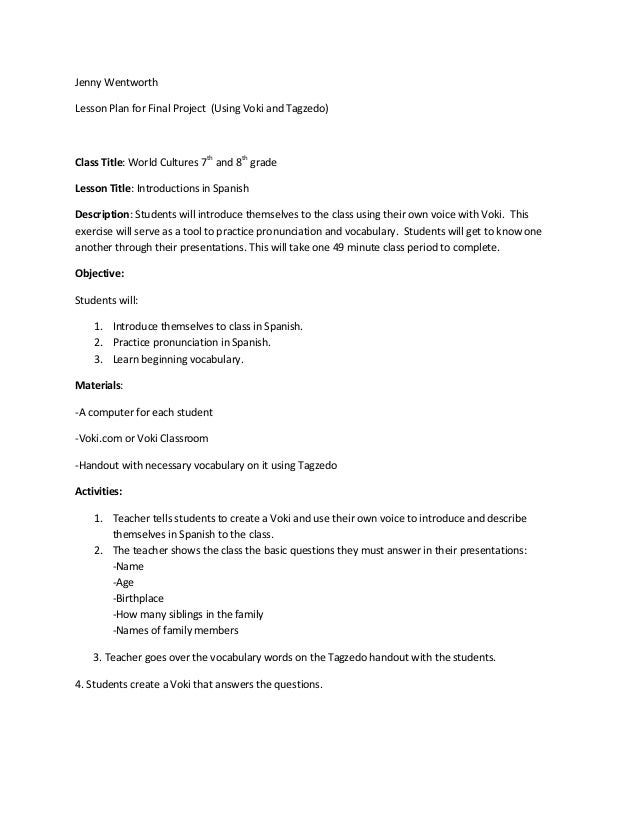 descriptive essays lesson plans