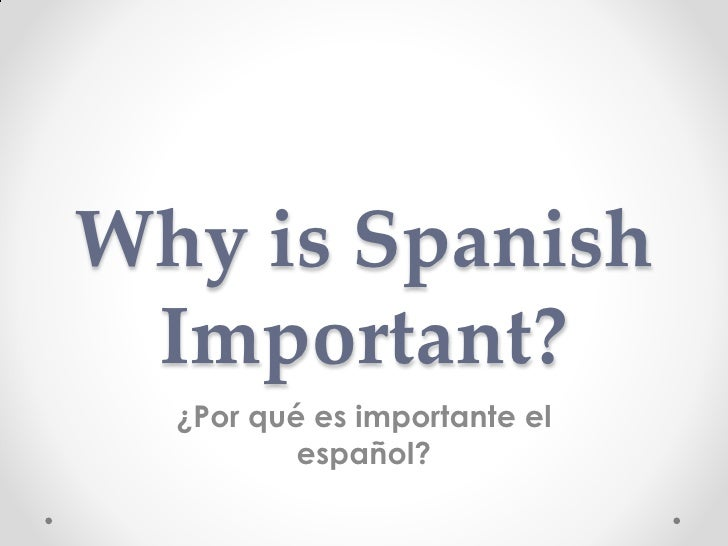 Spanish powerpoint