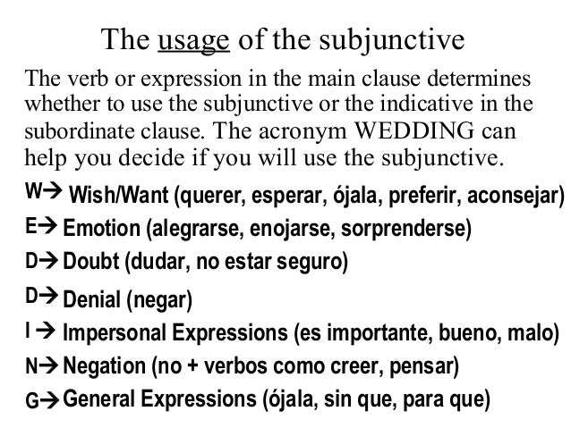 subjunctive essay phrases spanish I would appreciate any key phrases that can be used in a spanish essay the idea is to help me and others like me who need good ways of perhaps opening an essay.