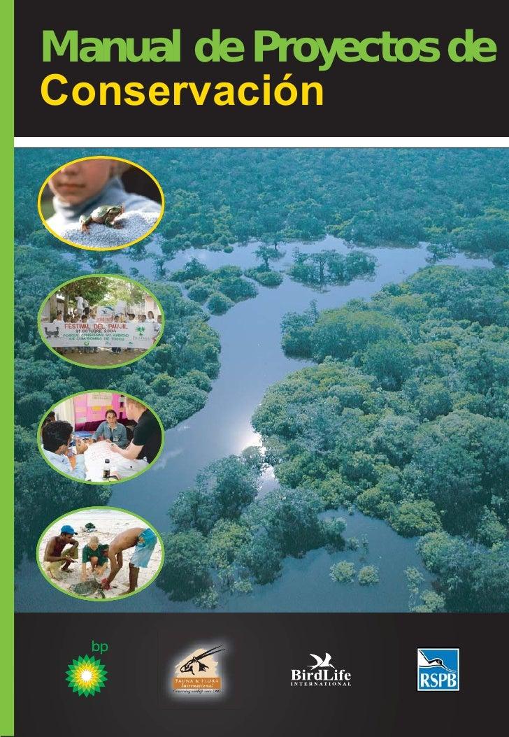 Manual de Proyectos de Conservación
