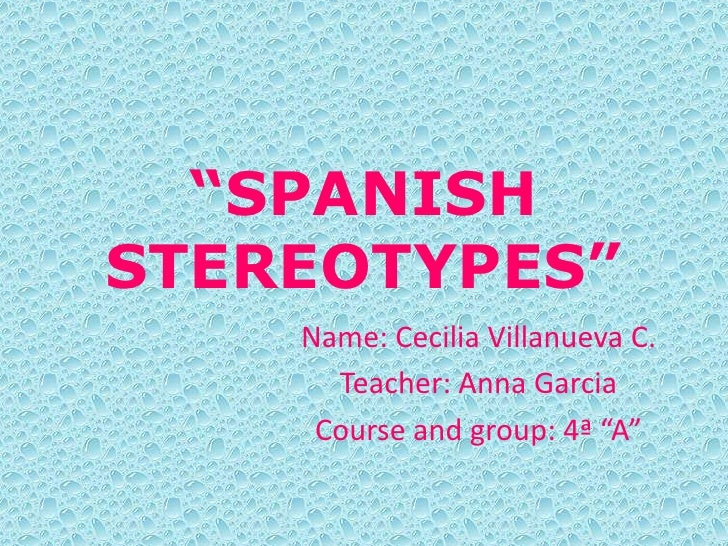 Spanish stereotypes