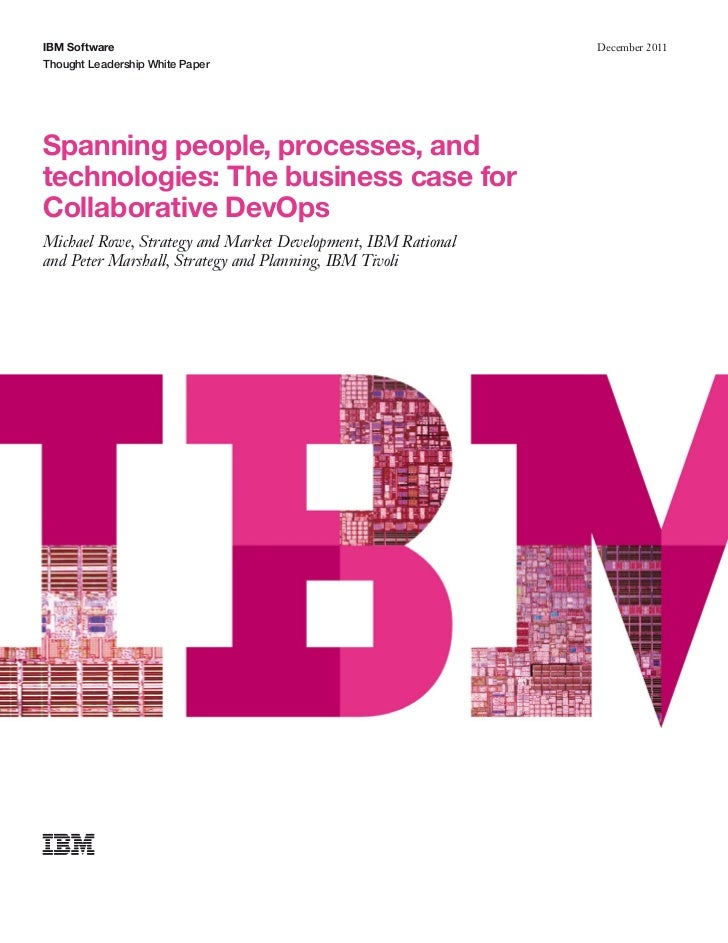 IBM Software                                                  December 2011Thought Leadership White PaperSpanning people, ...