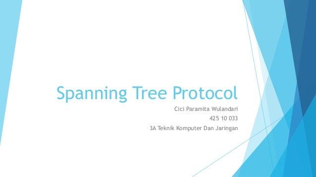 Spanning Tree Protocol                   Cici Paramita Wulandari                                425 10 033           3A Te...