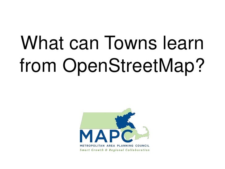What can Towns learn from OpenStreetMap?