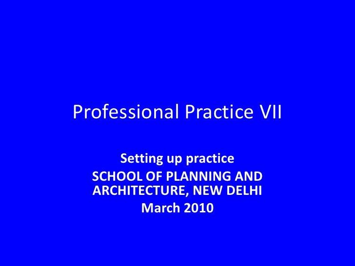 Spa Professional Practice VII