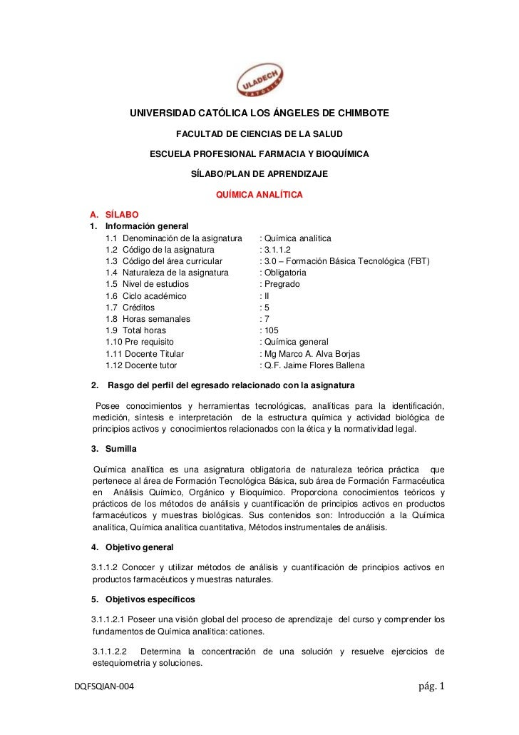 UNIVERSIDAD CATÓLICA LOS ÁNGELES DE CHIMBOTE<br />FACULTAD DE CIENCIAS DE LA SALUD<br />ESCUELA PROFESIONAL FARMACIA Y BIO...