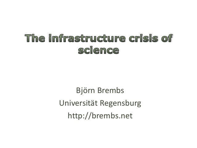 The infrastructure crisis of science