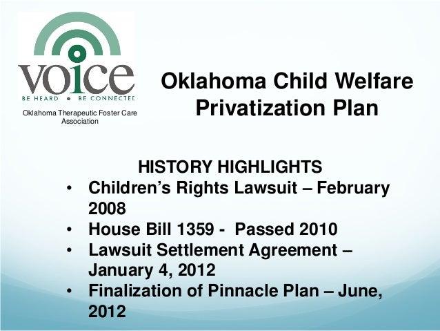 Oklahoma Child WelfareOklahoma Therapeutic Foster Care          Association                                      Privatiza...