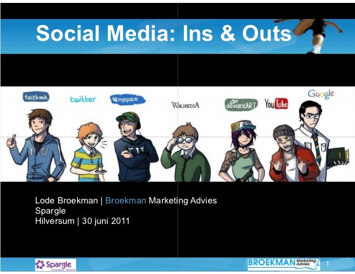 Social Media: Ins & OutsLode Broekman   Broekman Marketing AdviesSpargleHilversum   30 juni 2011                          ...