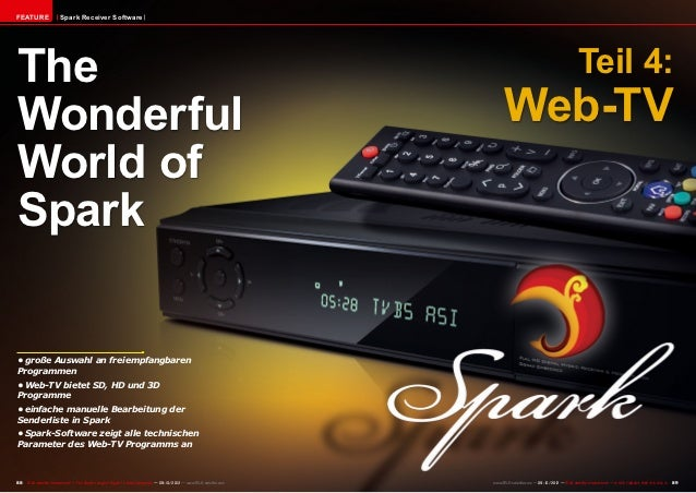 FEATURE                 Spark Receiver SoftwareThe                                                                        ...