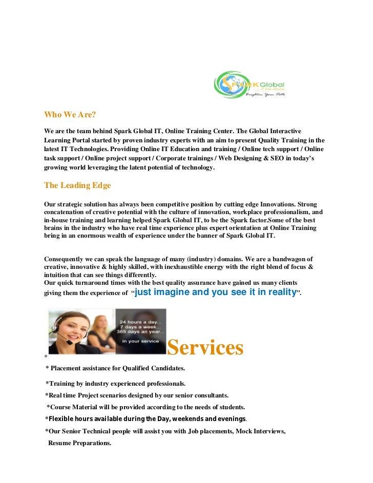 Spark global it company profile