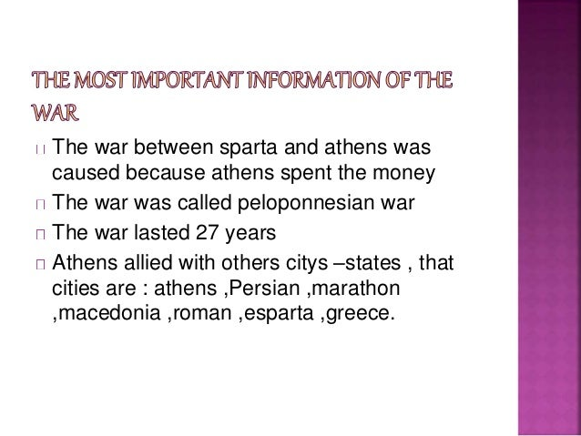 War Between Athens And Sparta The War Between Sparta And