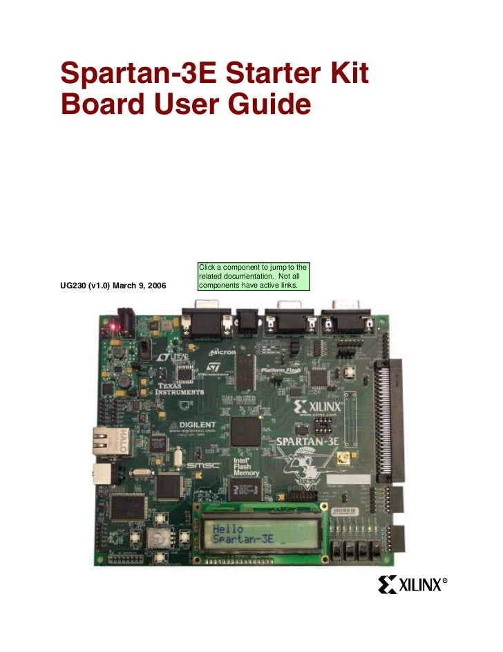 Spartan-3E Starter KitBoard User Guide                             Click a component to jump to the                       ...